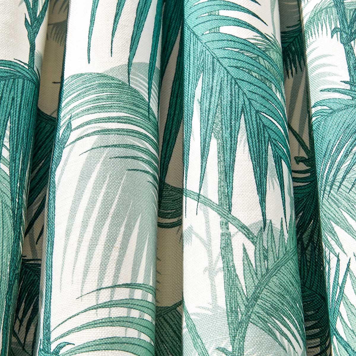 Cole & Son Palm Jungle Petrol / Snow Fabric - Product code: F111/2005LU