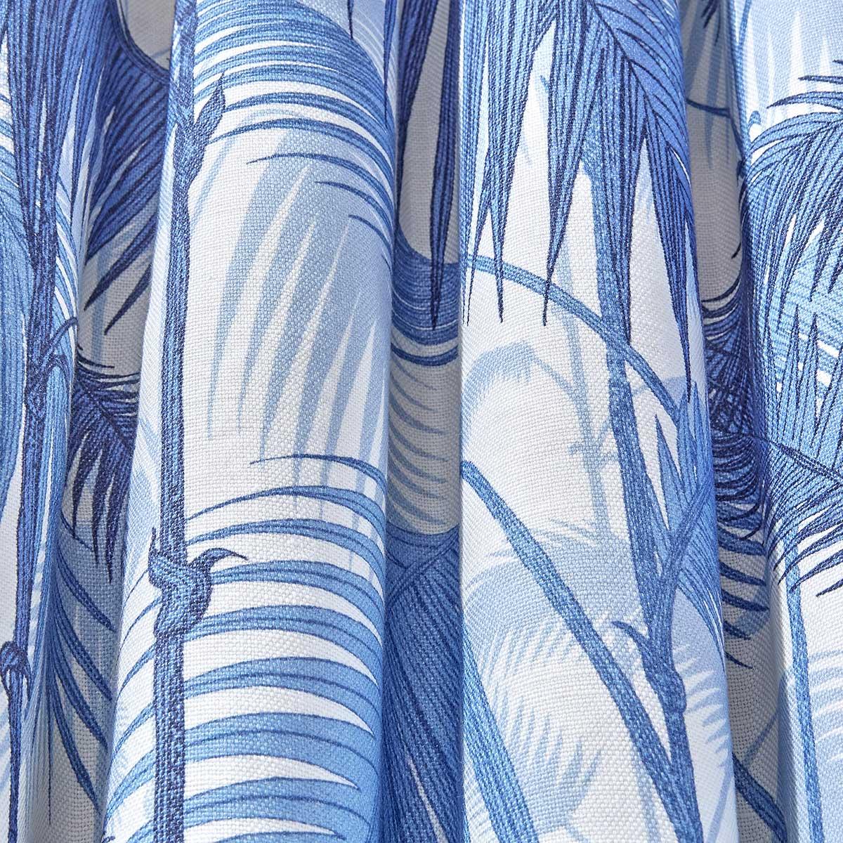 Cole & Son Palm Jungle China Blue / Snow Fabric - Product code: F111/2006LU