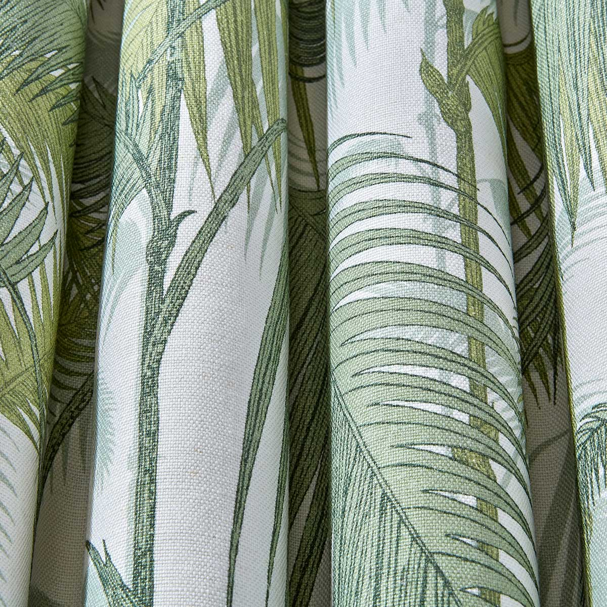 Cole & Son Palm Jungle Leaf Green / Olive Fabric - Product code: F111/2007LU