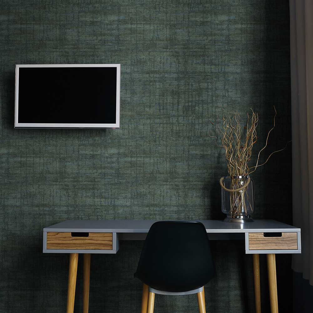 Albany Grid Dark Green Wallpaper - Product code: C88627