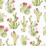 Galerie Cactus Flower Green Wallpaper