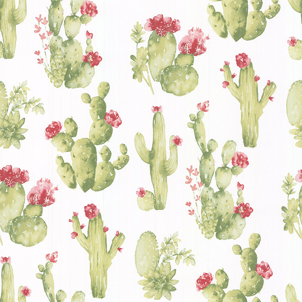 Galerie Cactus Flower Green Wallpaper - Product code: CK36630