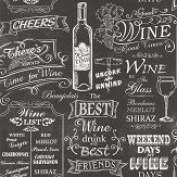Galerie Wine Board Black Wallpaper - Product code: CK36631