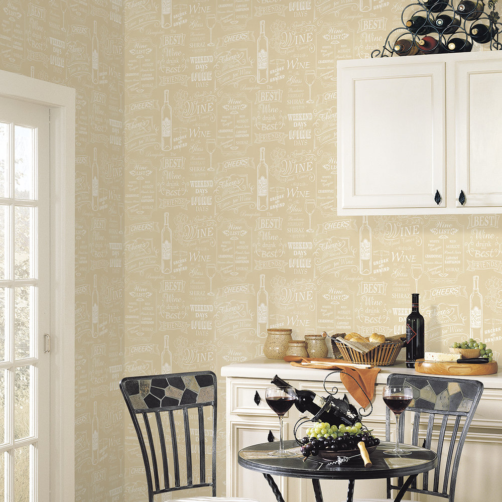 Galerie Wine Board Beige Wallpaper - Product code: CK36632