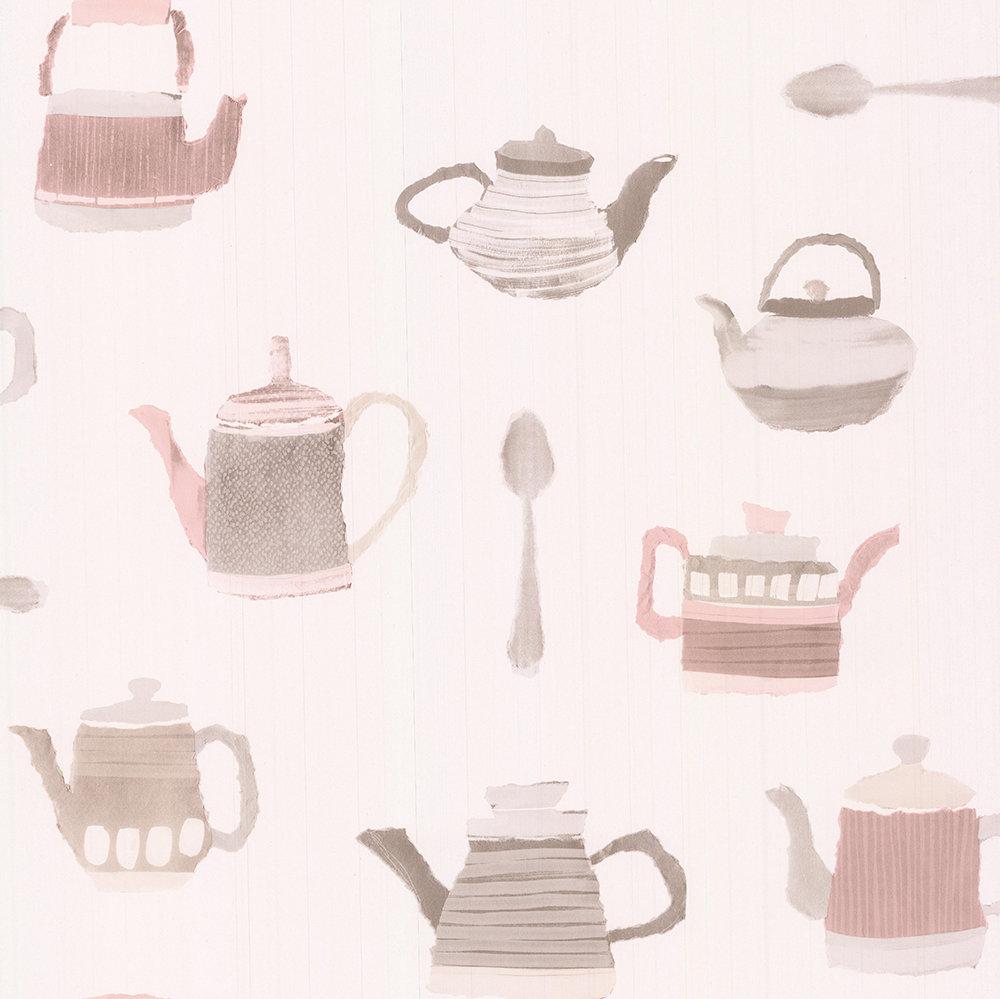 Galerie Tea Time Pink / Grey Wallpaper - Product code: CK36633