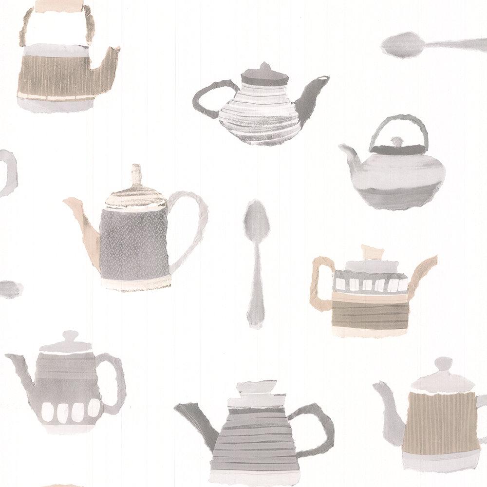 Galerie Tea Time Light Brown Wallpaper - Product code: CK36634