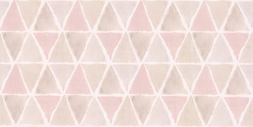 Galerie Triangle Tile Pink / Brown / Grey Wallpaper main image