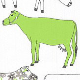 Galerie Decorative Cows Green Wallpaper