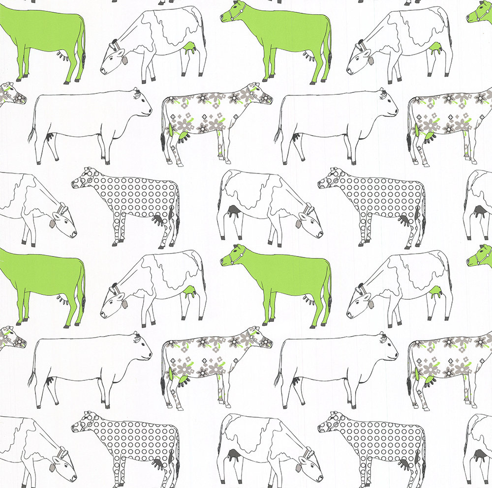 Galerie Decorative Cows Green Wallpaper - Product code: KE29928