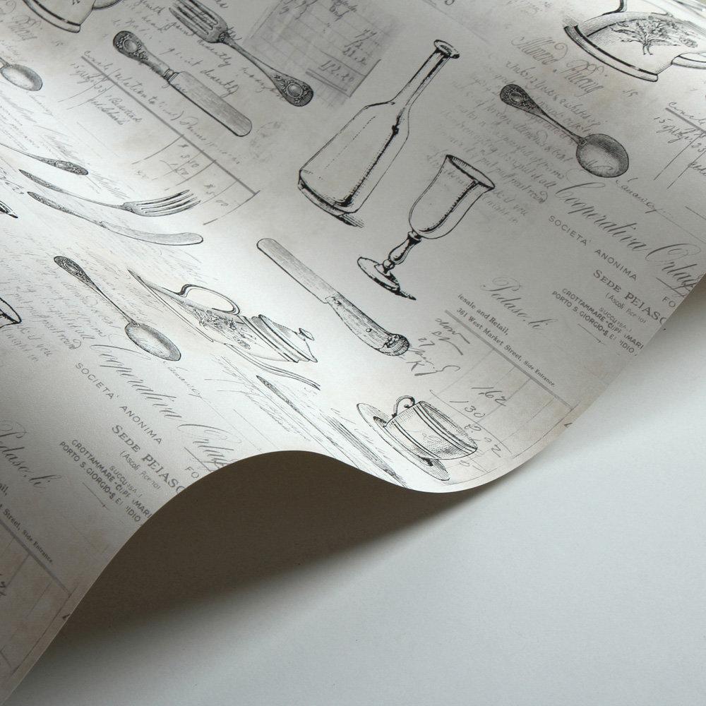 Silverware Wallpaper - Peach - by Galerie