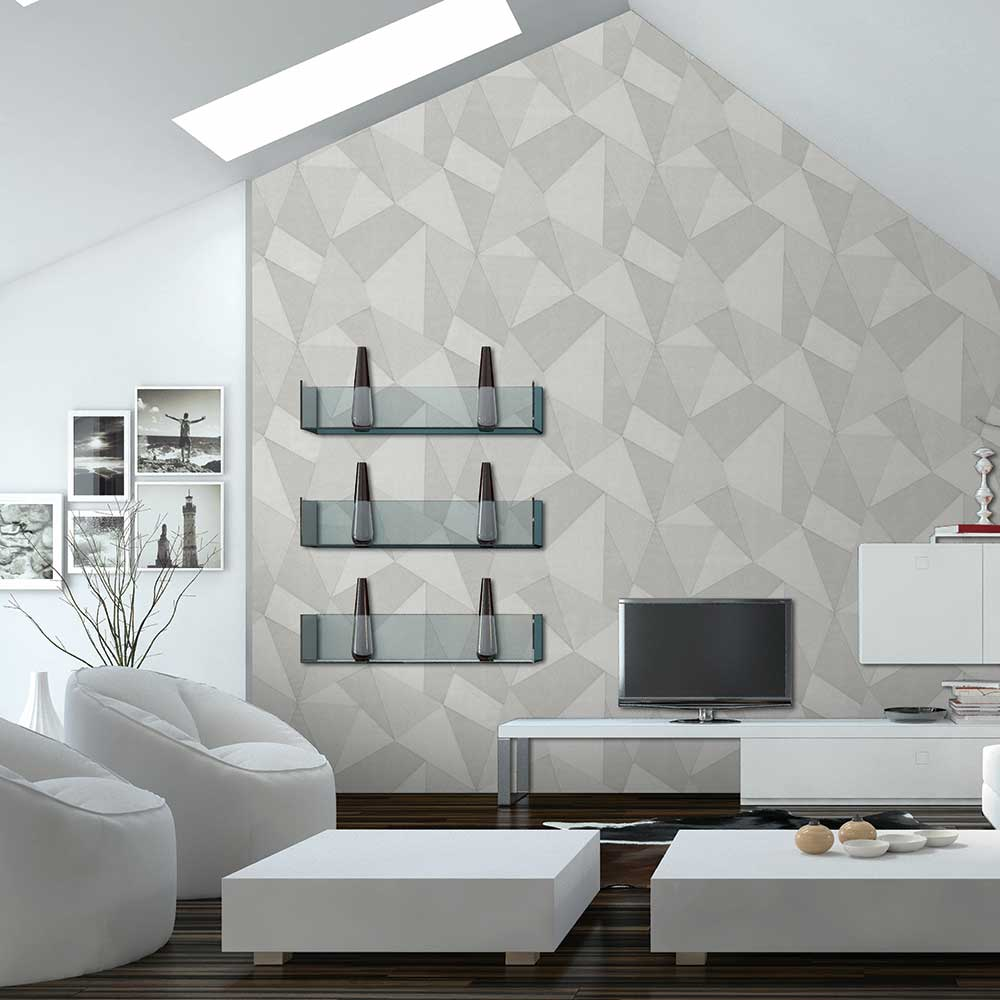Albany Prism Light Grey Wallpaper - Product code: C88652