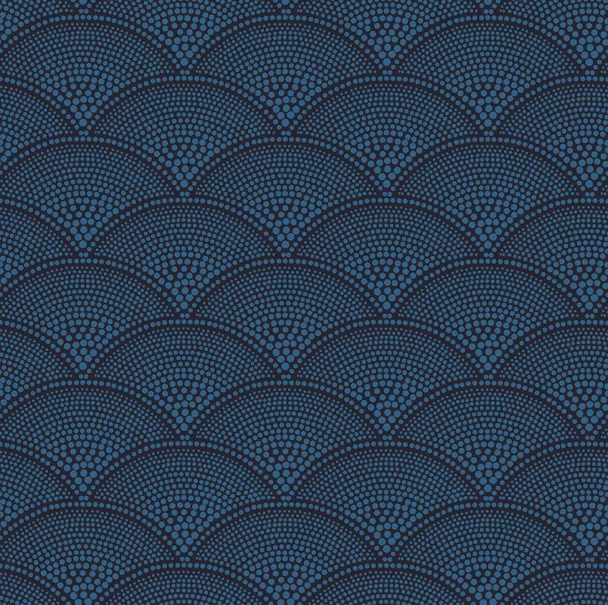 Cole & Son Feather Fan Ink Fabric - Product code: F111/8028