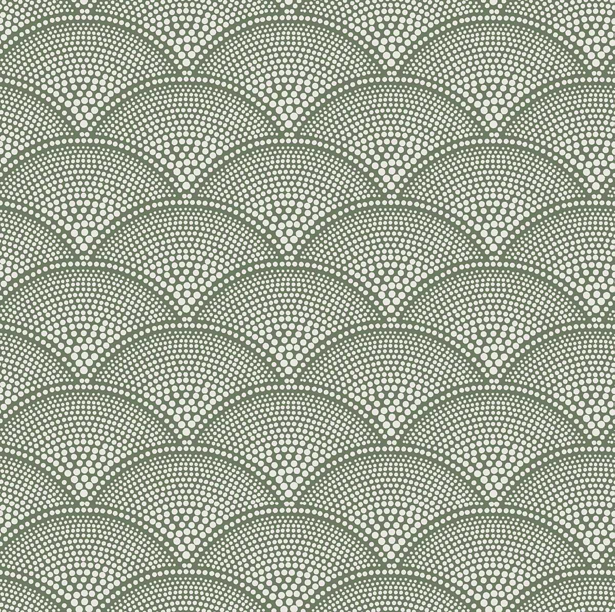 Cole & Son Feather Fan Old Olive Fabric - Product code: F111/8029