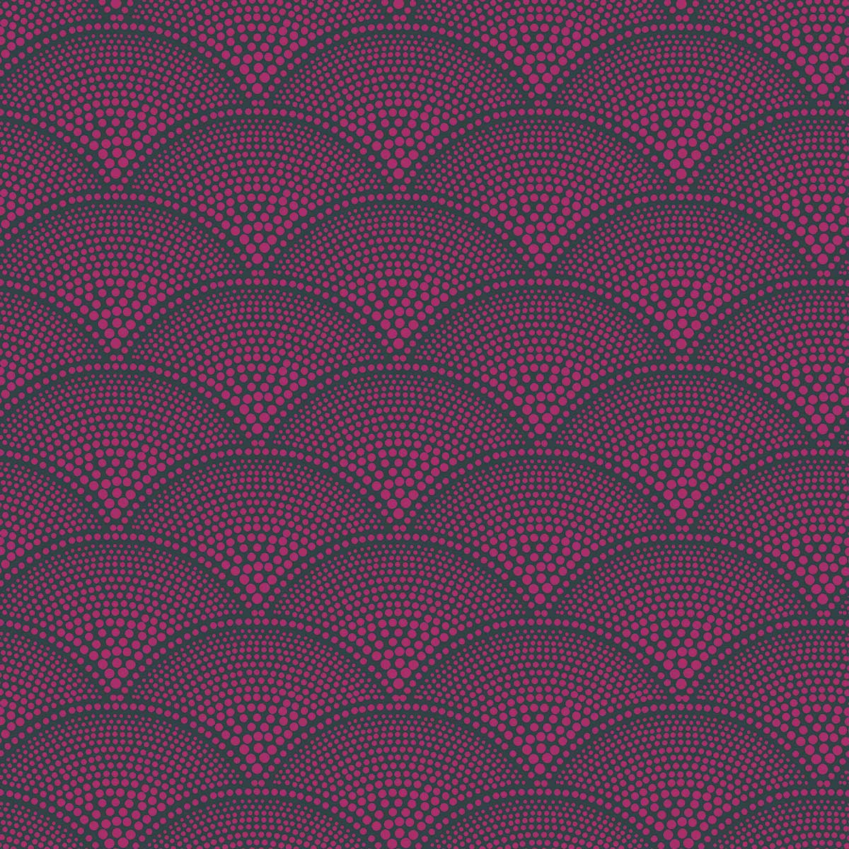 Feather Fan Fabric - Magenta - by Cole & Son