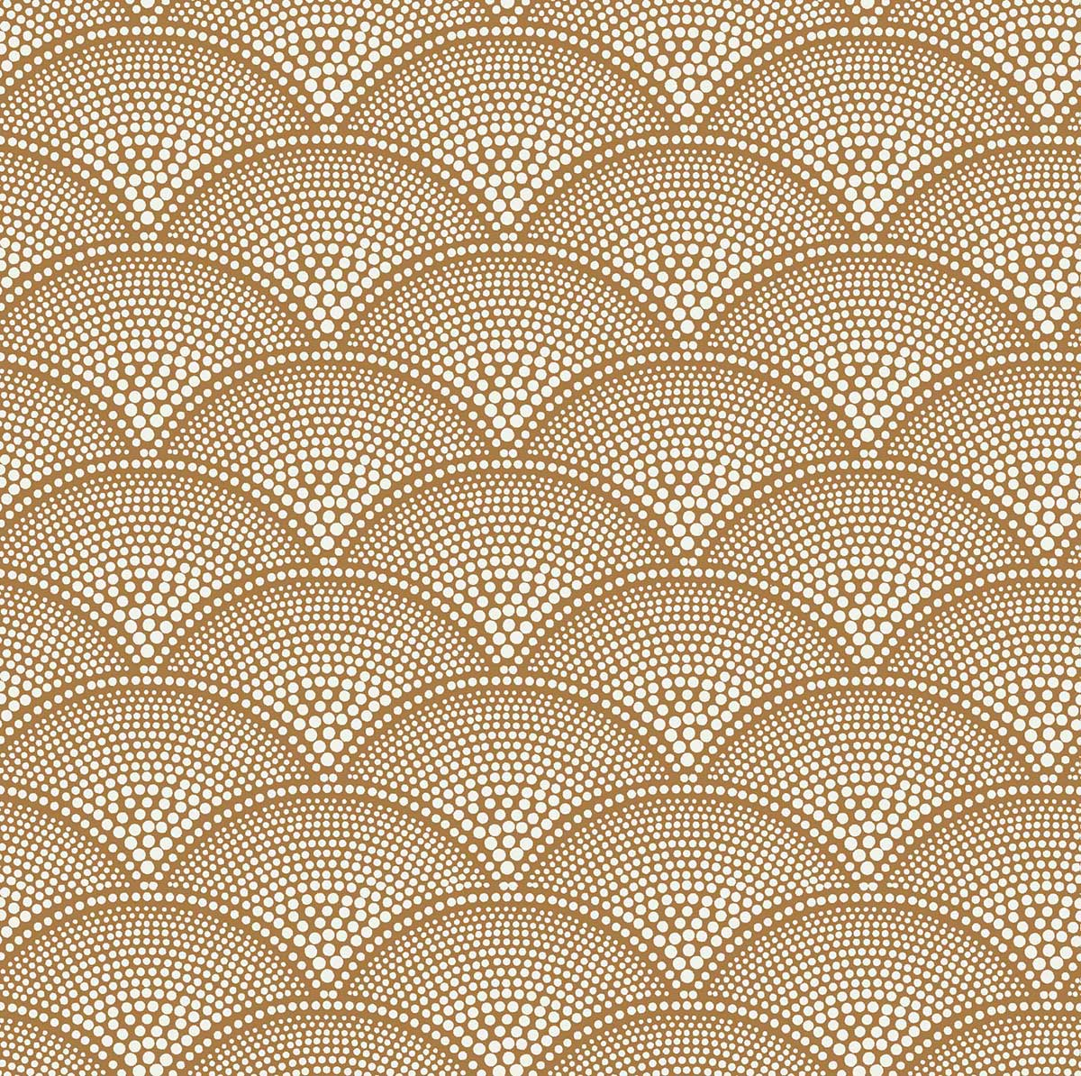 Feather Fan Fabric - Ginger - by Cole & Son