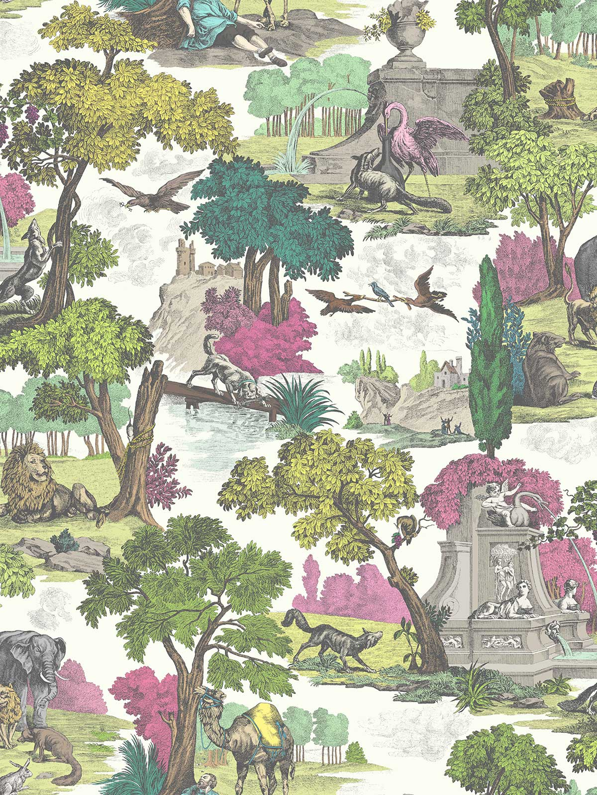 Versailles Grand Fabric - Classic Multi - by Cole & Son