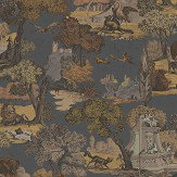 Cole & Son Versailles Grand Charcoal / Bronze Fabric