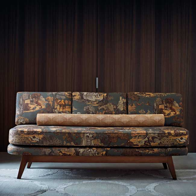 Versailles Grand Fabric - Charcoal / Bronze - by Cole & Son
