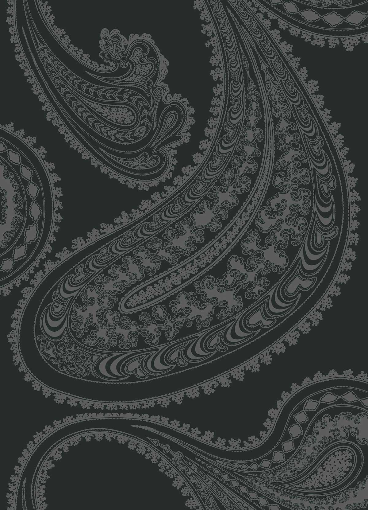 Cole & Son Rajapur Charcoal Fabric - Product code: F111/10037