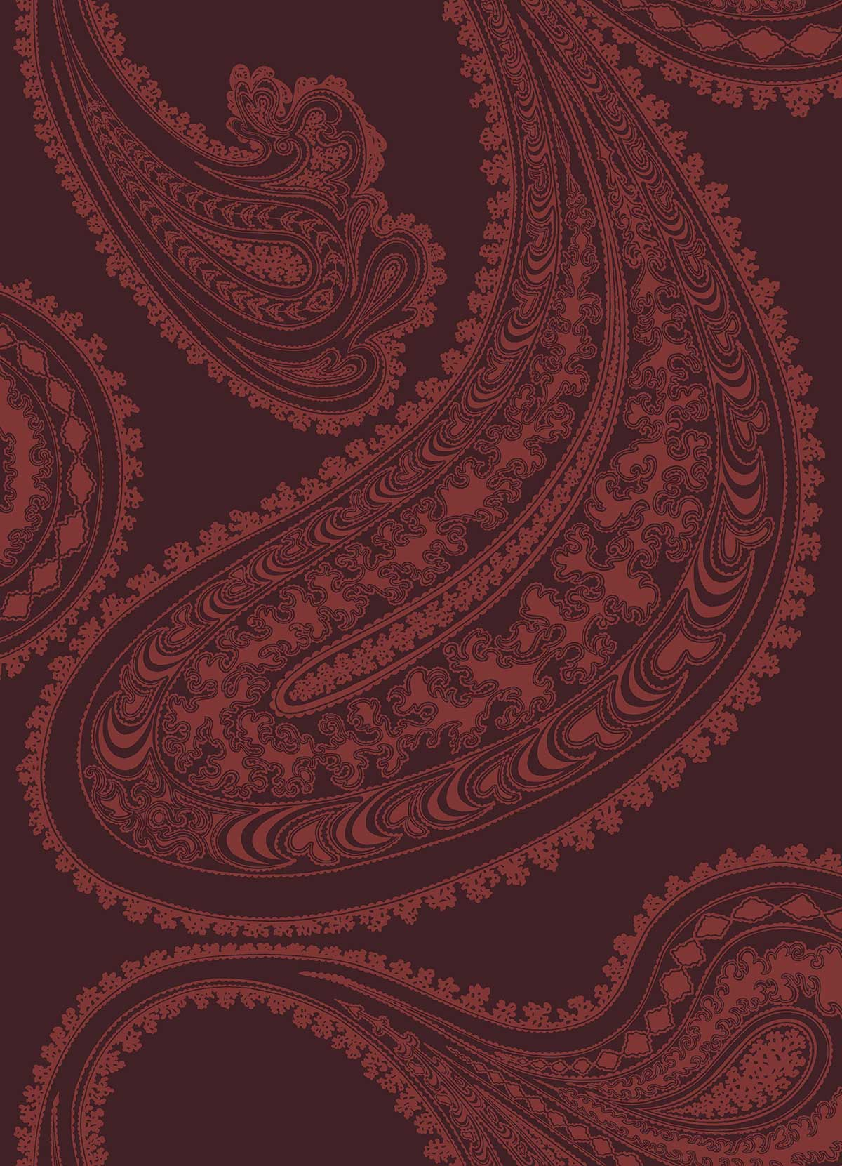 Cole & Son Rajapur Rouge Red Fabric - Product code: F111/10038