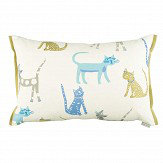 Villa Nova Pretty Kitty Cushion Yellow / Blue - Product code: VNC3318/01