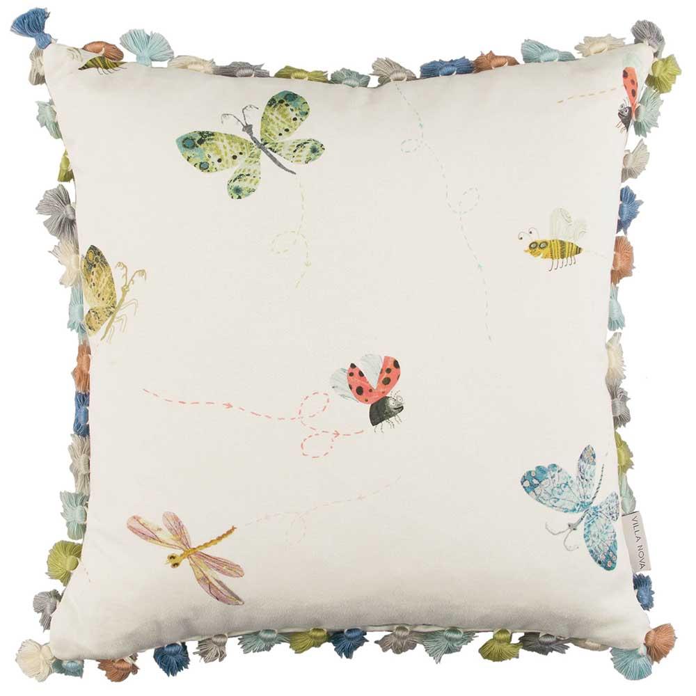 Buzzing Around Cushion - Multi-coloured - by Villa Nova
