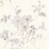 Roberto Cavalli Embroidered Floral White Wallpaper