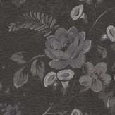 Roberto Cavalli Embroidered Floral Black Wallpaper