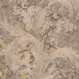 Roberto Cavalli Floral Damask Warm Beige Wallpaper