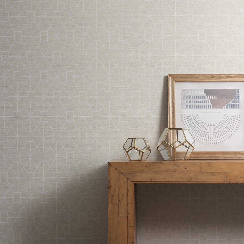 Trellis Wallpaper - Sandstone - by Albany