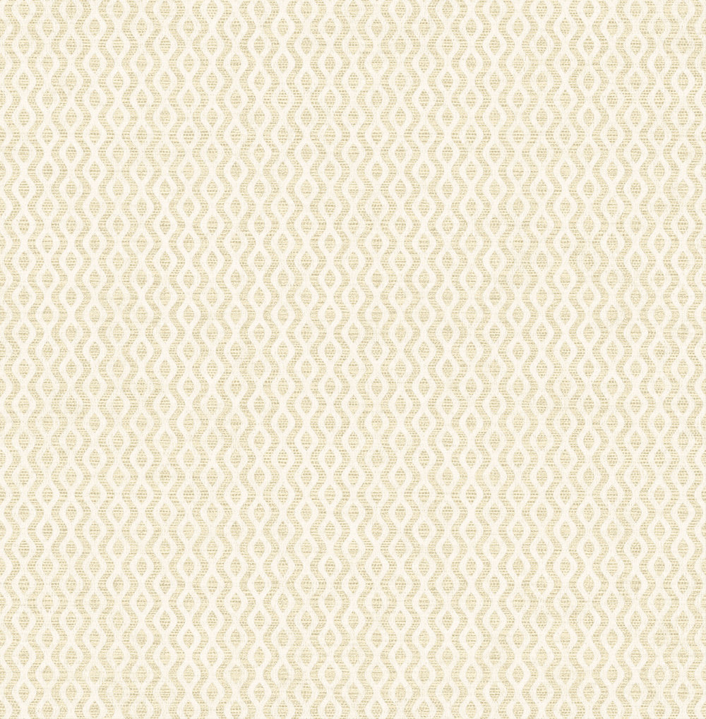 Albany Small Wave Geo Gold Cream Wallpaper - Product code: 25017
