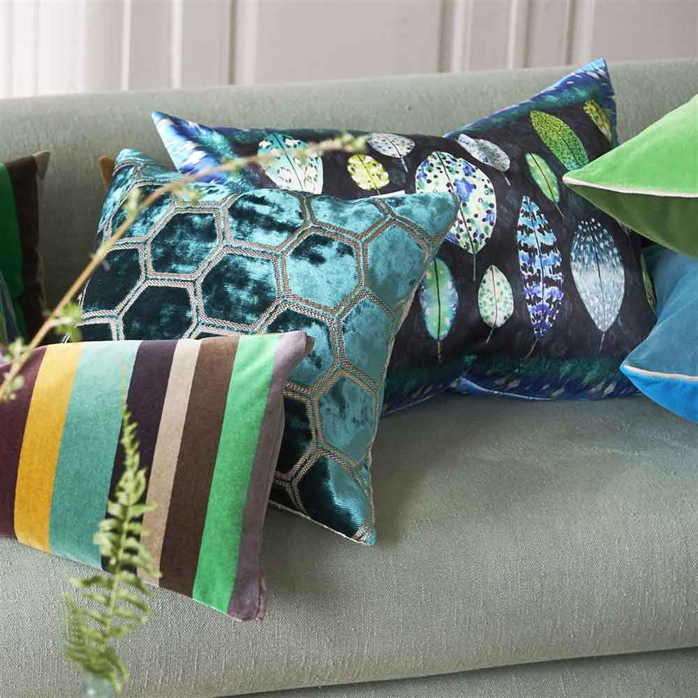 Tulsi Cushion - Cobalt - by Designers Guild