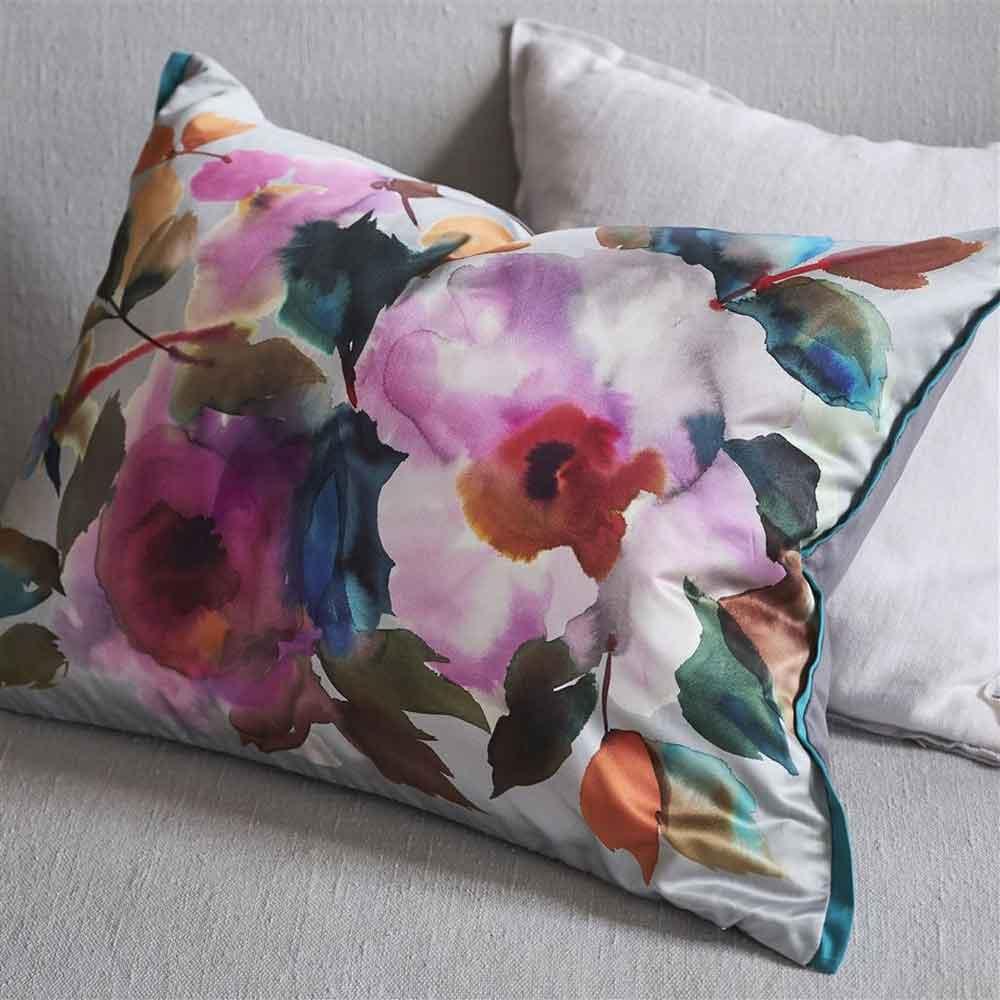 Surimono Cushion - Berry  - by Designers Guild