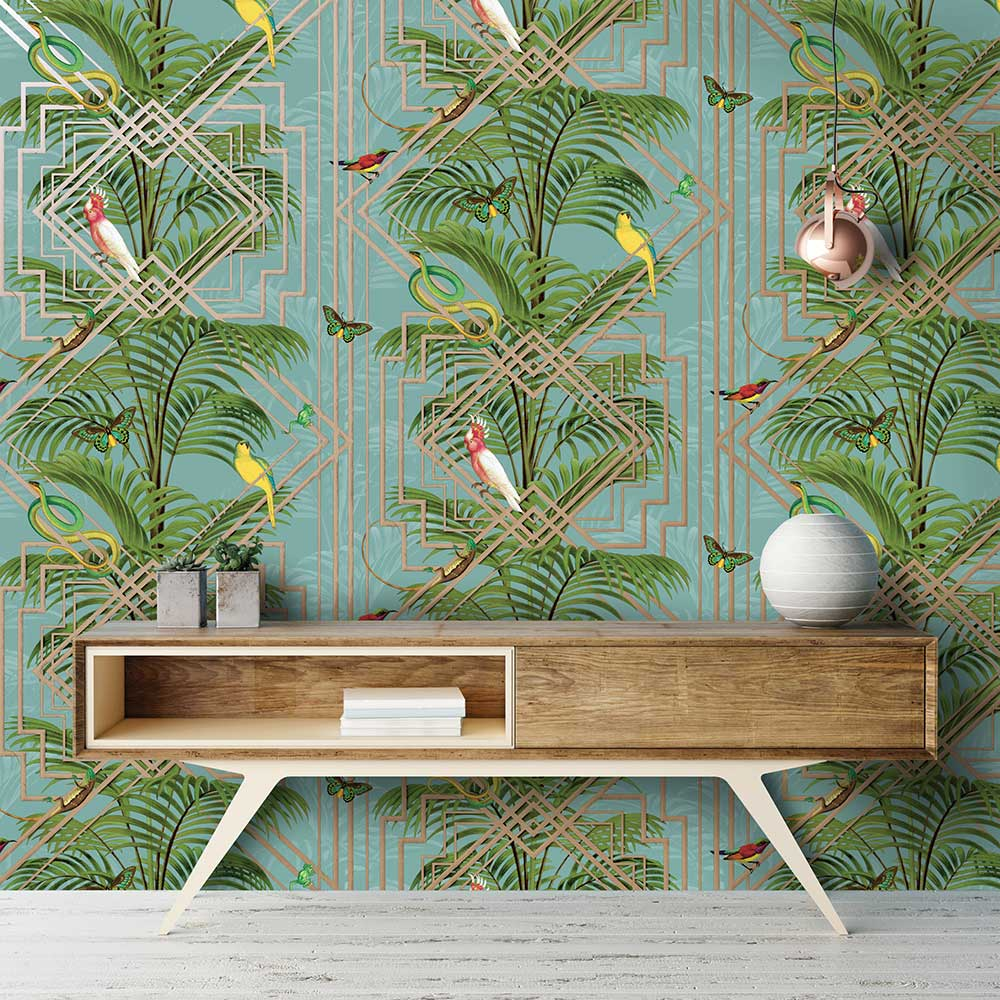 Albany Amazon Teal Wallpaper - Product code: 50210