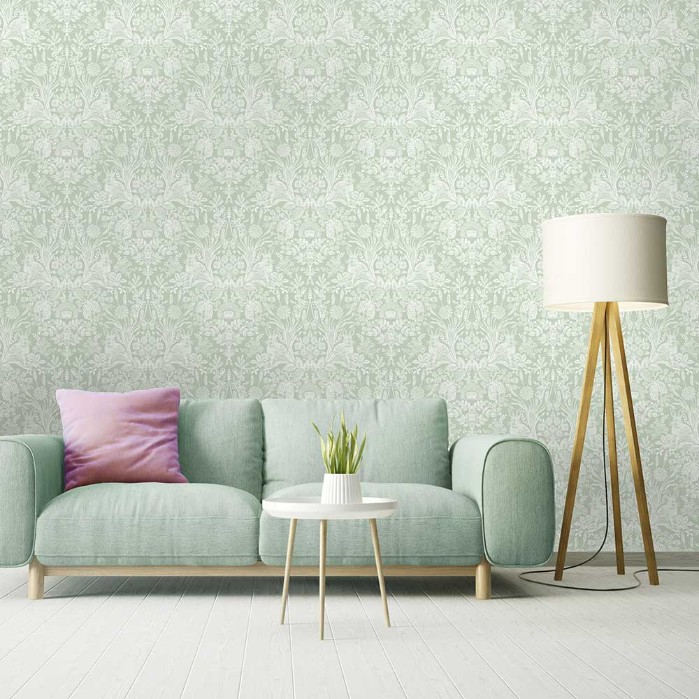 Albany Bexley Green Wallpaper - Product code: 50200
