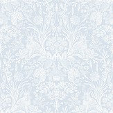 Albany Bexley Soft Blue Wallpaper