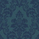 Albany Distressed Damask Blue Wallpaper - Product code: 200253