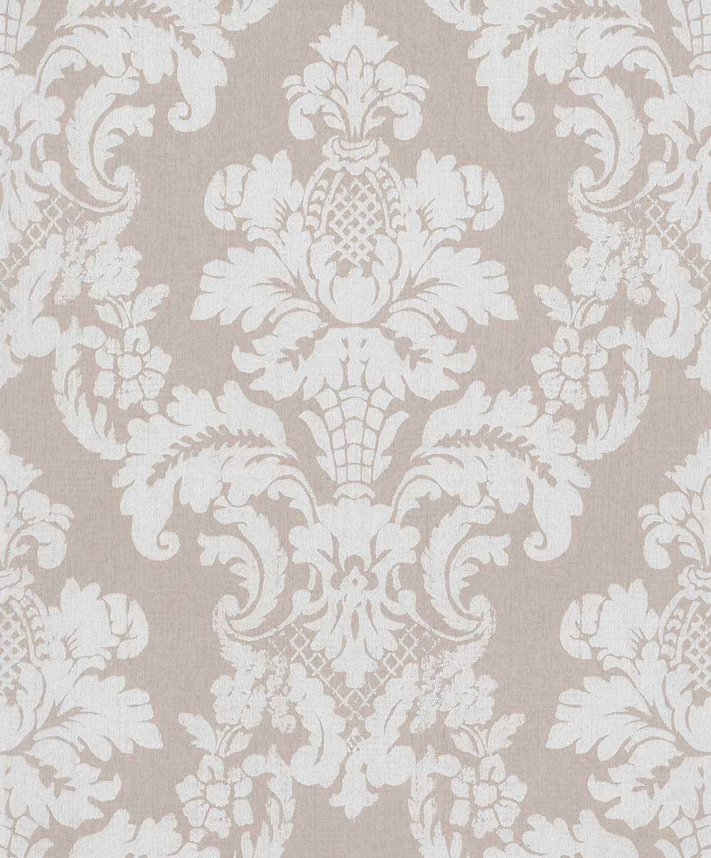 Albany Distressed Damask Beige Wallpaper - Product code: 200254