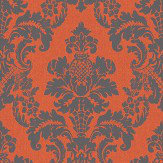 Albany Distressed Damask Orange Wallpaper - Product code: 200256