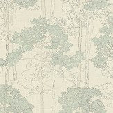 Albany Heavenly Tree Green Wallpaper