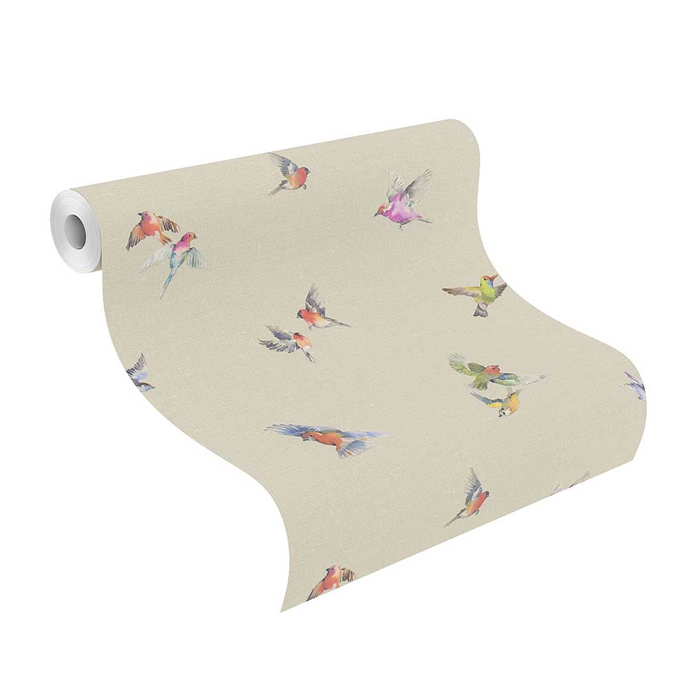 Albany Garden Birds Natural Wallpaper - Product code: 401158