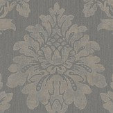 Albany String Damask Black / Gilver Wallpaper - Product code: 25024