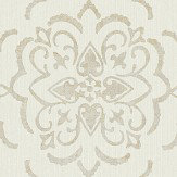 Albany String Medallion Cream / Gold Wallpaper - Product code: 25027