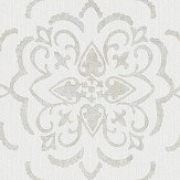 Albany String Medallion Grey / Silver Wallpaper - Product code: 25028