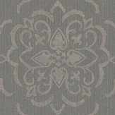 Albany String Medallion Black / Gilver Wallpaper - Product code: 25029