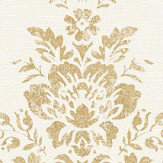 Albany Linen Cameo White / Gold Wallpaper - Product code: 25038