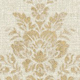 Albany Linen Cameo Warm Beige / Gold Wallpaper - Product code: 25039