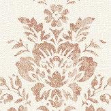 Albany Linen Cameo White / Copper Wallpaper
