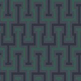 Albany Vanity Key Green / Blue Wallpaper
