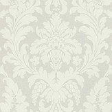 Albany Damask Opal White Wallpaper
